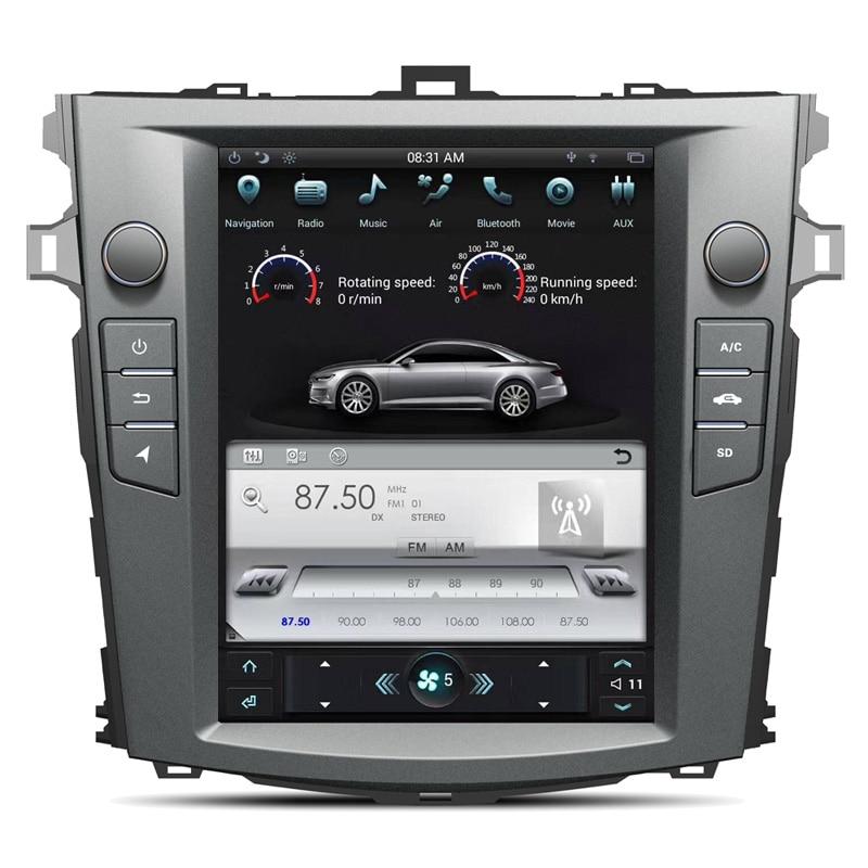 Android6.0 Тесла стиль 10,4 дюймов автомобиля нет dvd-плеер gps навигации для Toyota Corolla 2007-2013 стерео блок Satnav мультимедиа
