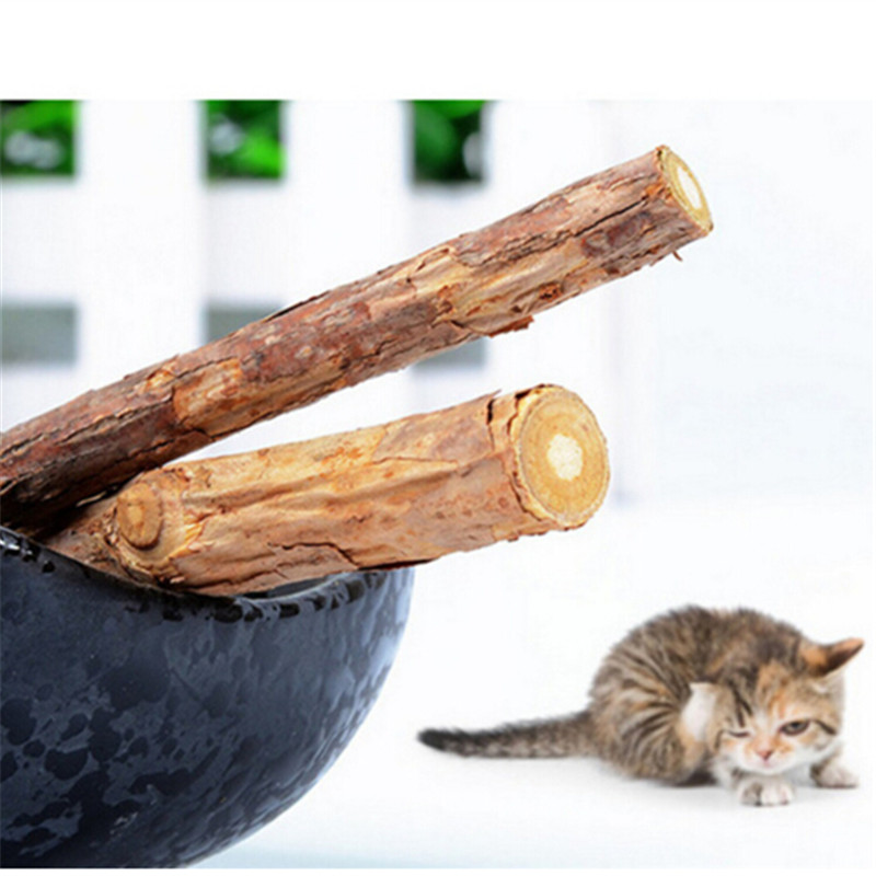 2pcs Cat Supplies Cat Molar Tooth Cleaning Stick Sewing Natural Wood Days Catnip Cat Snacks Pet Treats Accessories