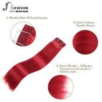 Joedir бразильский пучки волос плетение 100% человеческих волос прямые волосы Ombre русый Бургундия рыжие волосы 99J пучки волос