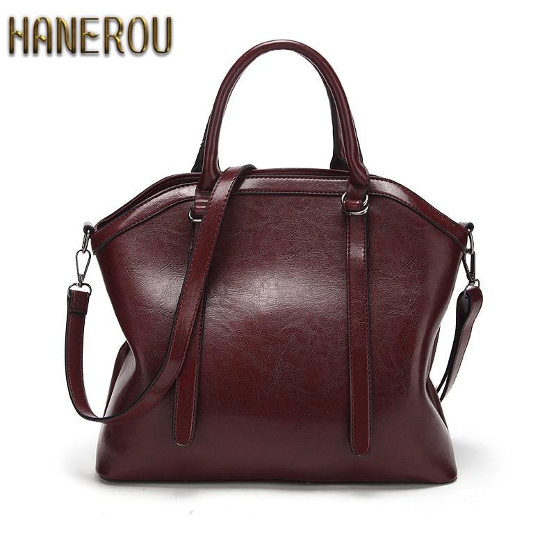 2019 de las mujeres de la marca de moda bolsa de hombro bolsa de alta calidad bolso Casual de gran capacidad bolso Vintage mujer PU bolsa de cuero