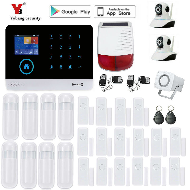 Yobang Security Wireless wifi SMS Home GSM Alarm system House intelligent auto Burglar Door Security Alarm Systems wireless sms home gsm alarm system 7 lcd keyboard ru sp eg fr it voice house intelligent auto burglar door security alarm system