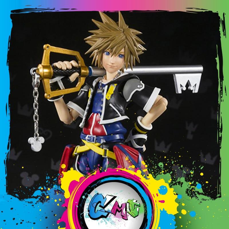 Здесь можно купить  CMT INSTOCK BANDAI TAMASHII NATIONS Original S.H.Figuarts Kingdom Hearts II SHF Sora PVC Action Figure Collection Toys figure  Игрушки и Хобби