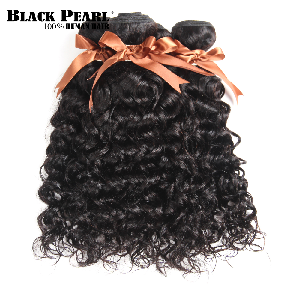Blackpearl Hair Malaysian Water Wave 4 Bundles 10-26 Inch Human Hair Weave Bundles Natural Color Non Remy Hair Free Shipping