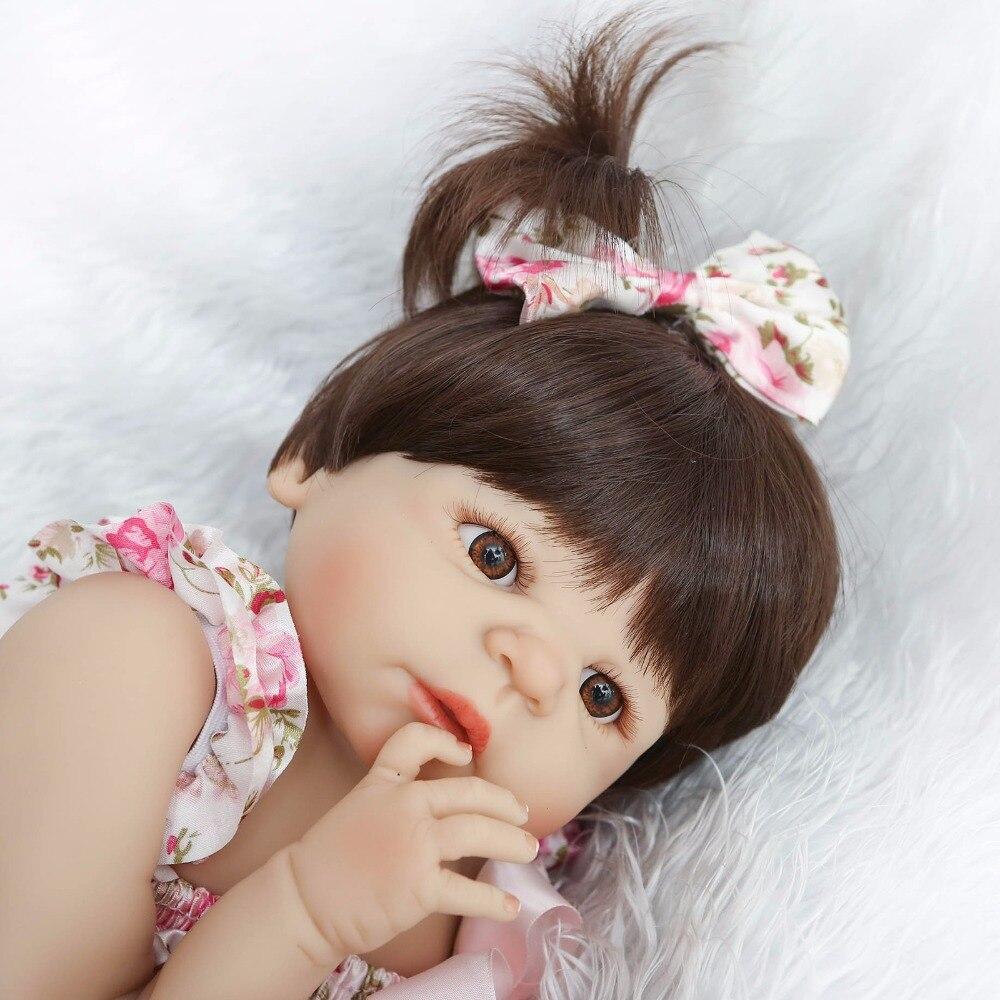 23 ''/57cm bebe living bonecas fait à la main réaliste Reborn bébé poupée filles corps complet en Silicone avec sucette enfant cadeau jouets - 3