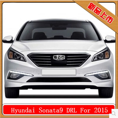 Free Shipping LED CAR light DRL Daytime Running Lights For Hyundai Sonata 2015 2016 with fog lamp hole drl for chevrolet captiva 2013 2016 daytime running lights double color led day driving light with lamp door free shipping