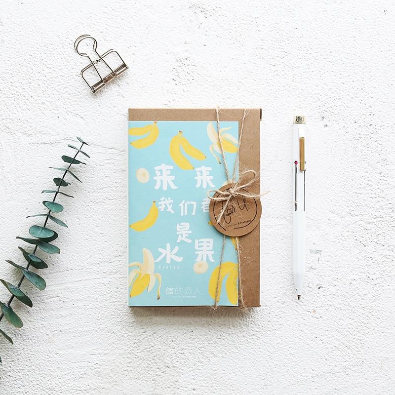 30 Sheets/LOT Creative Delicious Fruit Series Postcard