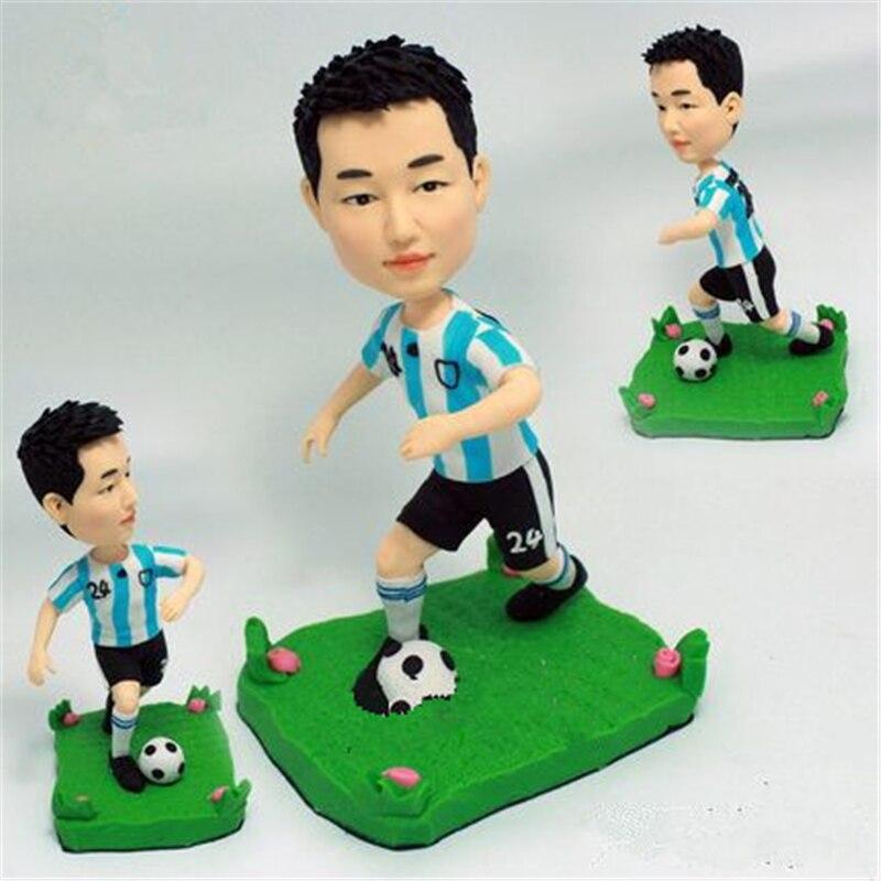 Miniverse カスタマイズ置物 18 センチメートル高さポリマークレイ Diy 手作りとサッカーキット蹴るためメッシロナウド誕生日ギフト  グループ上の おもちゃ & ホビー からの 人形 の中 1