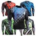 Новый Quick Dry Crossfit Сжатия Рубашка для Мужчин ММА Длинным Рукавом Rashguard Футболки Эластичный Тренировки Фитнес Майку
