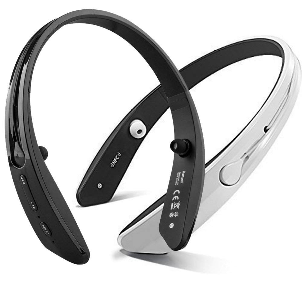 Wireless A2DP Bluetooth Stereo Headphone Sport Headset Ring Collar Earphones Earbuds With Mic