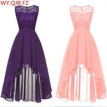 Женское летнее сексуальное кружевное шифоновое фиолетовое розовое платье подружки невесты короткое длинное платье для выпускного вечера оптом Дешевое женское платье оптом