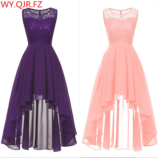 OML 536#Summer Sexy Lace Chiffon Violet Pink Bridesmaid Dresses Short long wholesale prom party Dress girl cheap wholesale women