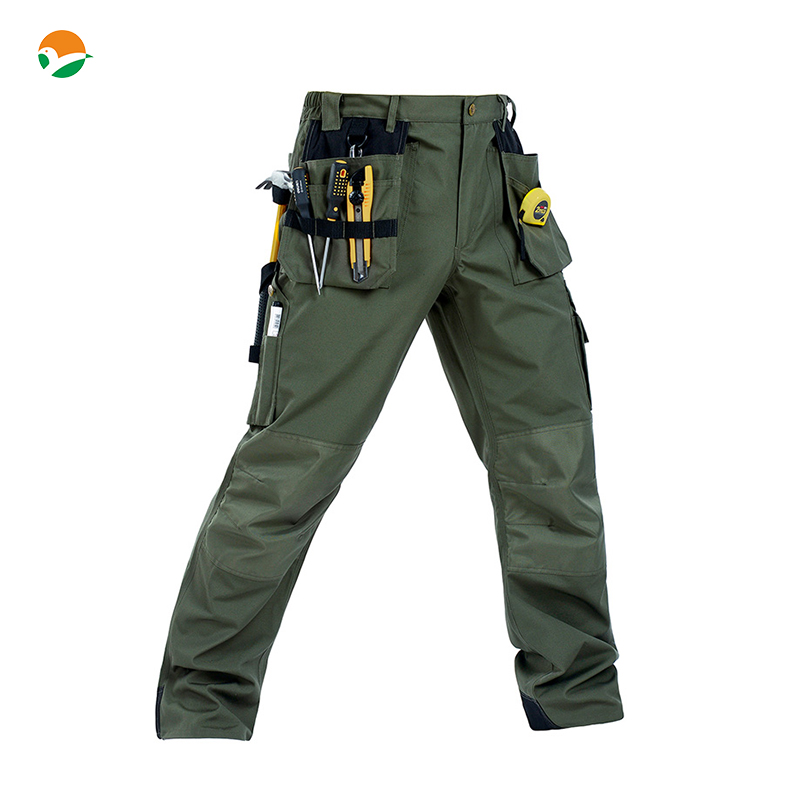 Men's High quality Durable workwear wear-resistance multi-pockets mens cargo work trousers work pant free shipping