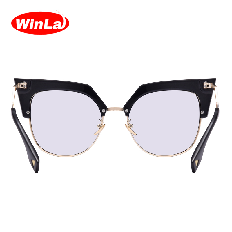 b2fdfe02f8a Winla Luxury Brand Designer Ladies Cat Eye Glasses Transparent Nerd Glasses  Alloy Z Shape Temple Spectacles Accessories Female-in Eyewear Frames from  ...