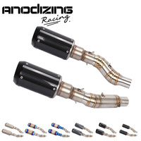 FOR Kawasaki Z1000 2010 2016 Exhaust Muffler middle Pipe Escape Connecting Pipe Link with 2 piece exhaust Slip On