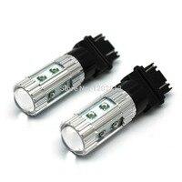 Kostenloser versand 2 stück 3156 3157 Bernstein Gelb 50 Watt Cree Chips LED Blinker Blinkers Glühbirne T25 DRL LAMPEN