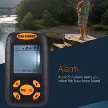 Портативный водостойкий провод рыболокатор ЖК-монитор Sonar эхолот Сигнализация Fishfinder 2 фута до 328 футов эхолот для рыбалки русский