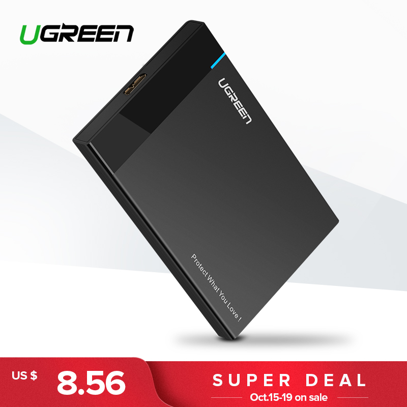 Ugreen Caso 2.5 polegada SATA para USB 3.0 Adaptador SSD HDD para Samsung Seagate SSD 1 2 tb tb Rígido disk Drive Caixa Externa Hdd