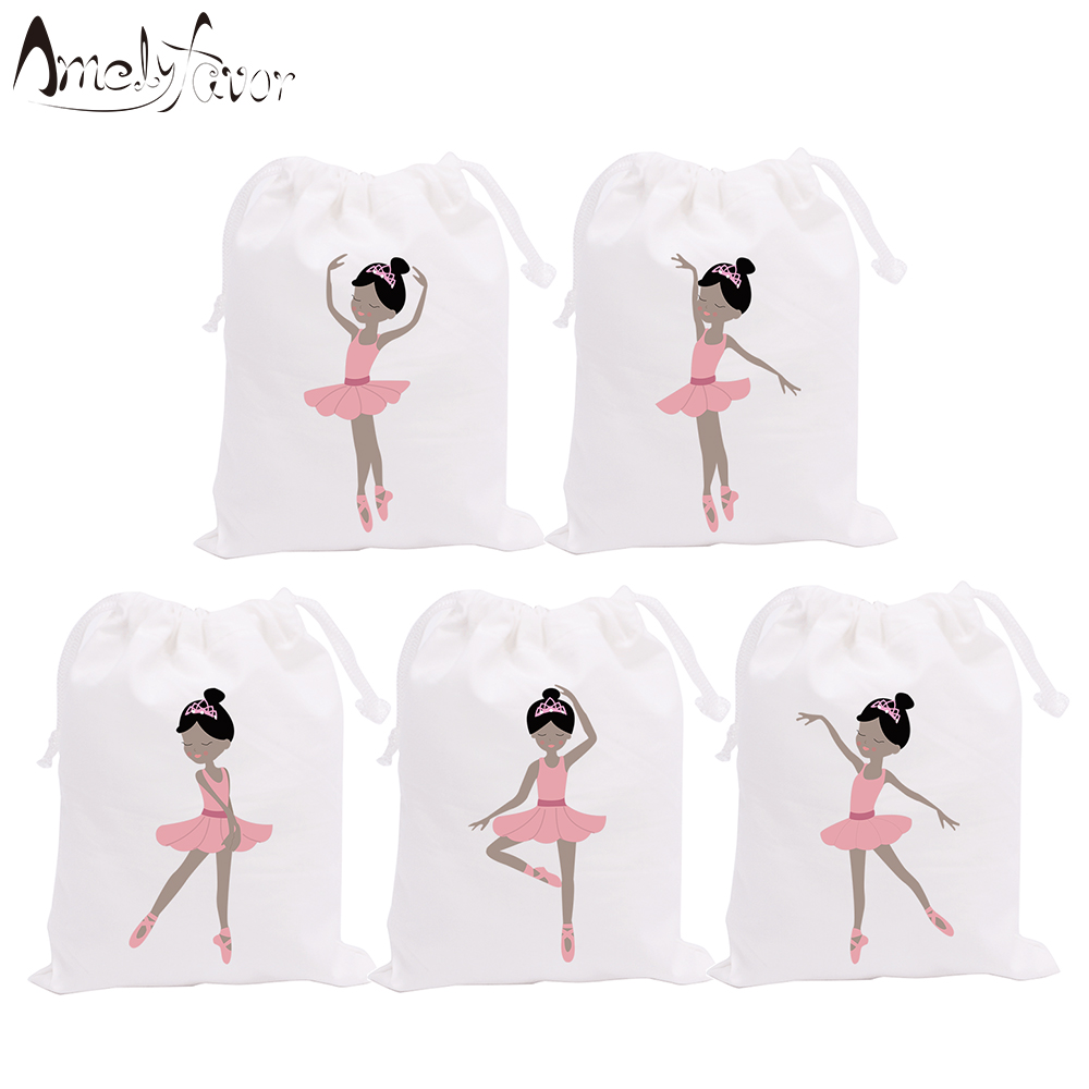 Ballerinas Theme Party Bags Candy Bags Gift Bags Ballet African Girls Decorations Grand Event Birthday Party Container Supplies