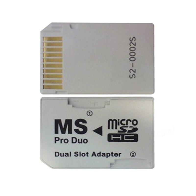 Двойной 2 слота Micro Memory TF для карты памяти MS Pro Duo адаптер для psp 64 Мб до 8 Гб TF карта + карта памяти конвертер белый
