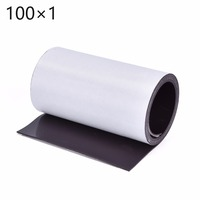 Brand New Hot Sales New Soft 1 Metre Premium Self Adhesive Magnetic Strip Tape Magnet 100x1mm