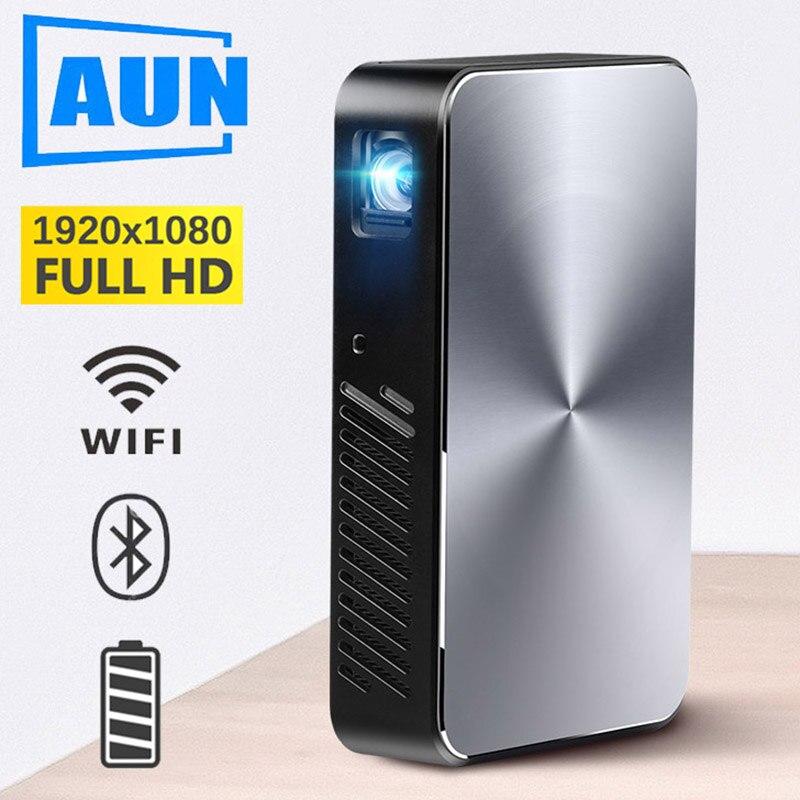Marque AUN Full HD Projecteur J10, Construire dans Android, 6000 batterie mah, 1920x1080 P, WIFI, Bluetooth, HDMI. Mini projecteur portable