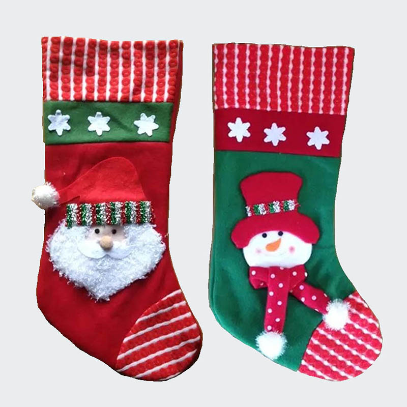 US $4.88 20% OFF 44cm/17 Inch Plush christmas stocking kid xmas stocking  children gift bag girls boy candy bag-in Stockings & Gift Holders from Home  & ...