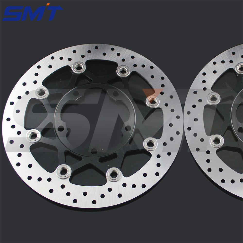 motorcycle Aluminum alloy inner ring & Stainless steel outer ring front brake disc roto  For Suzuki GSXR600 750 2006 2007 wholesale motorcycle aluminum alloy