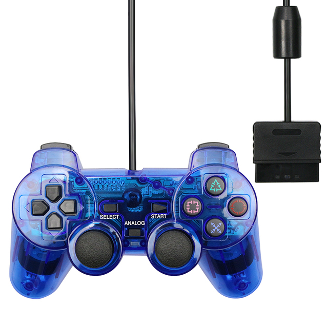 For PS2 Wired Controller Gamepad Manette For Playstation Dualshock 2 Controle Mando Joystick For playstation 2 Console Accessory