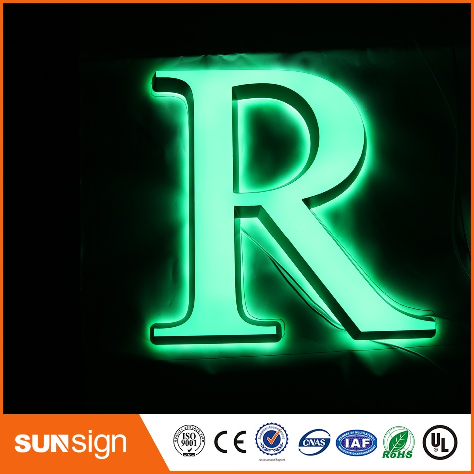 Custom Storefront Advertising LED Sign Acrylic Led Letter