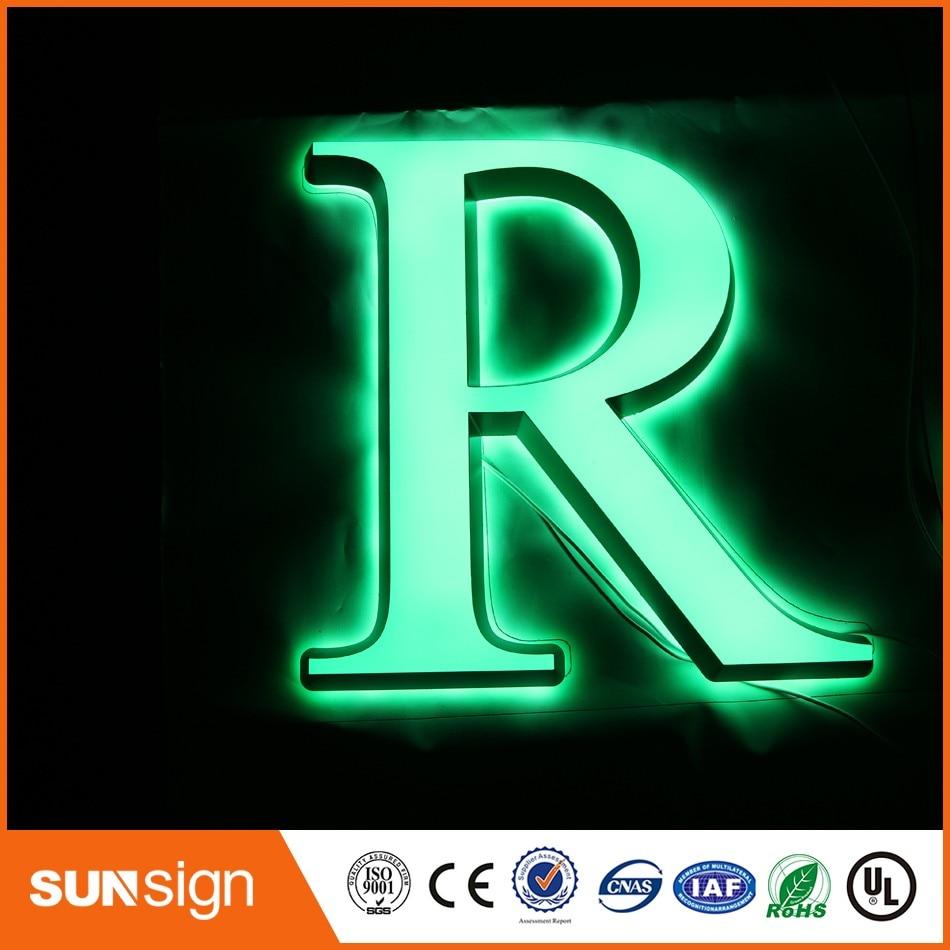 Custom Storefront Advertising LED Sign Acrylic Led Letter