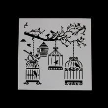 Caged Bird DIY Scrapbooking Photo Album Decorative Embossing Paper Cards Making Template Drawing Sheet Stencil Bullet Journal sun flower scrapbooking photo album decorative embossing paper cards making craft template drawing sheet stencil bullet journal