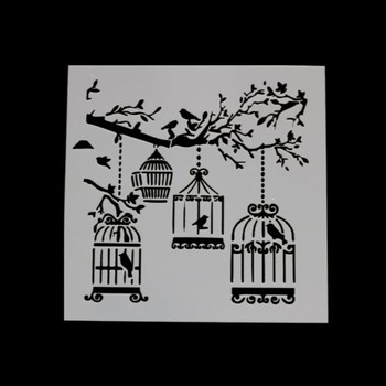 Caged Bird DIY Scrapbooking Photo Album Decorative Embossing Paper Cards Making Template Drawing Sheet Stencil Bullet Journal free shipping stencil painting template stamps diy scrapbooking photo album cards decorative embossing cake fondant cupcake tool