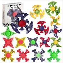 Figet Spiner Fidget Toy Gold Black for Adult Scrub ABS Plastic Spinner Hand Gold Finger Spinner Noir Spiner Handspinner