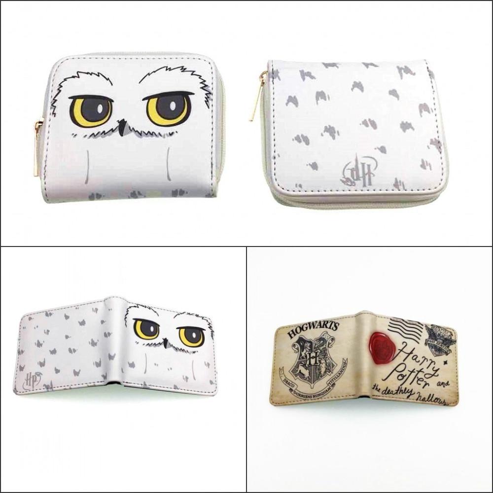 цена на New Design Harry Potter Letter Wallet Women Handbags Men Short Wallets Student Coin Purse Fashion Round Zipper Purse Gift