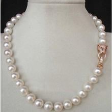 """1"""" 10-11 мм AAA++ подлинное белое Южное море AKOYA Жемчужное ожерелье"""