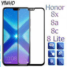 Full Cover Protective Glass honor 8x Tempered Glass For Huawei Honor 8x 8c play 8a 8 lite honor8x honor8a honor8c Safety Sklo(China)