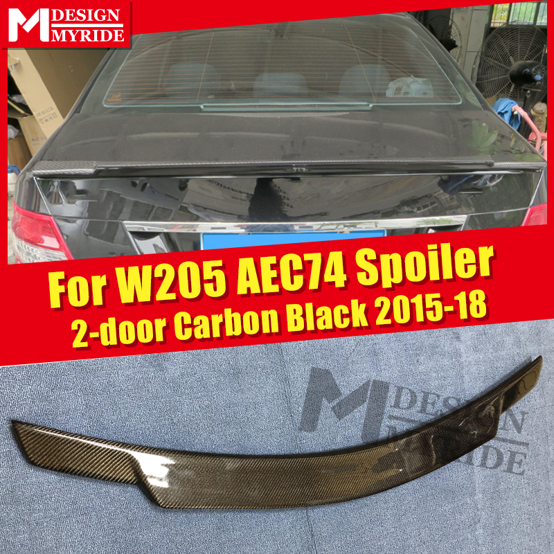 Fits For MercedesMB W205 4Matic Carbon fiber Trunk spoiler wing C74 style C class 2 DR C180 C200 C250 wing rear spoiler 2015 18 in Spoilers Wings from Automobiles Motorcycles