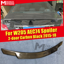 Fits For MercedesMB W205 4Matic Carbon fiber Trunk spoiler wing C74 style C class 2-DR C180 C200 C250 rear 2015-18