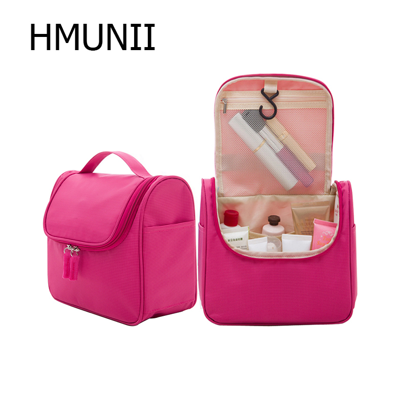 HMUNII Travel Cosmetic Bags Fashion Waterproof Polyester Multifunction Makeup Storage Bag High Quality Toiletry Bag For MenWomen