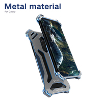 R Just For Samsung Galaxy S9 Case Plus Shockproof Aluminum Metal Phone Hard Armor Case For