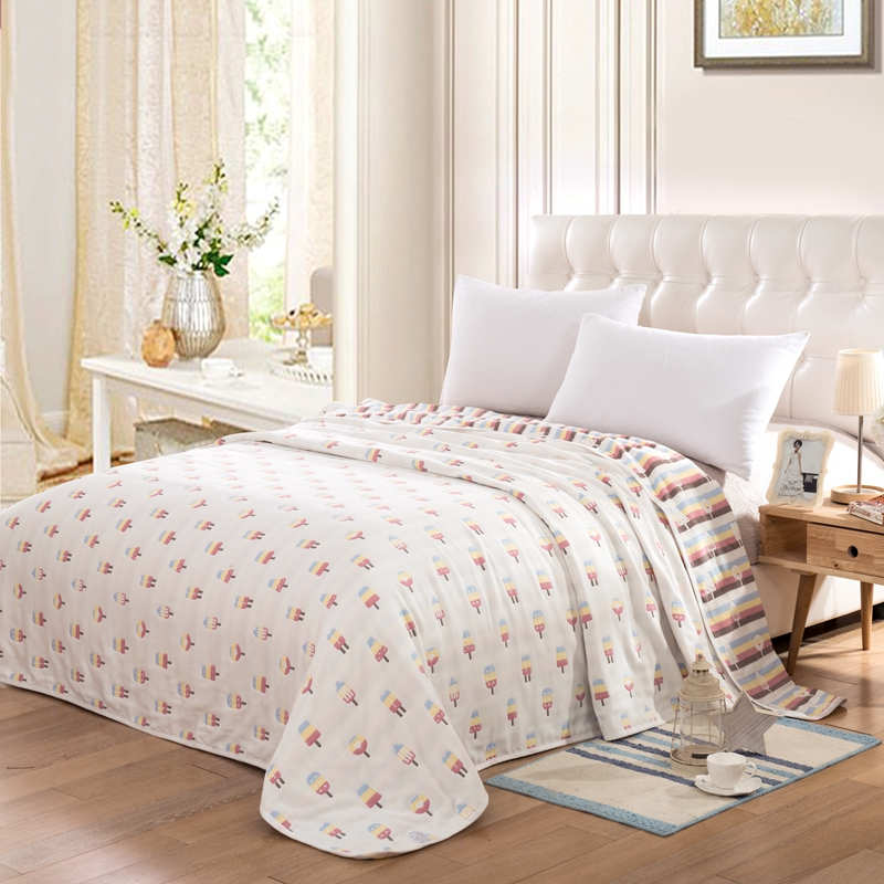 cotton yarn knitted shabby chic pattern animal bedspread blanket breathable for all seasons in. Black Bedroom Furniture Sets. Home Design Ideas
