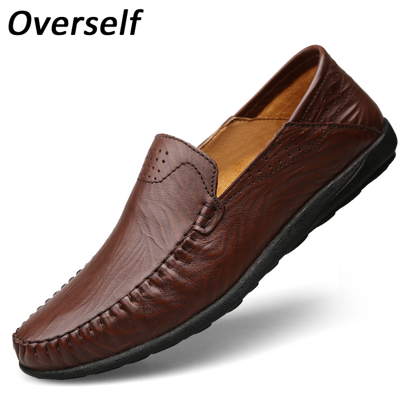 High Quality Genuine Leather Men Casual Shoes Drive Moccasins Loafers Men's Shoes Big Size Sping Summer Slip On Fashion Flats dekabr new 2018 men cow suede loafers spring autumn genuine leather driving moccasins slip on men casual shoes big size 38 46