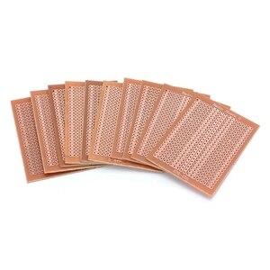 Image 2 - Placa protectora de circuito matricial, 10 Uds., 5x7cm, bricolaje, prototipo de papel, PCB, experimento Universal