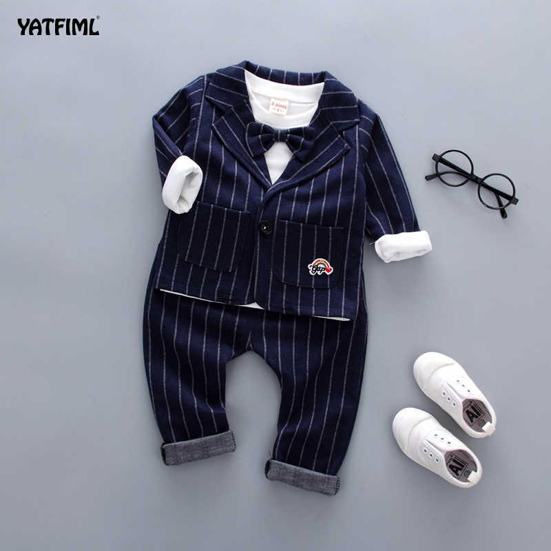 YATFIML เด็ก 3 ชิ้นชุดฤดูใบไม้ผลิสุภาพบุรุษชุดสูท Boy เด็กอย่างเป็นทางการสำหรับงานแต่งงาน Elegant Boy ชุดราตรี Party