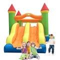 Yard festa ao ar livre brinquedos infláveis trampolim castelo com slide duplo casa bounce for kids presente