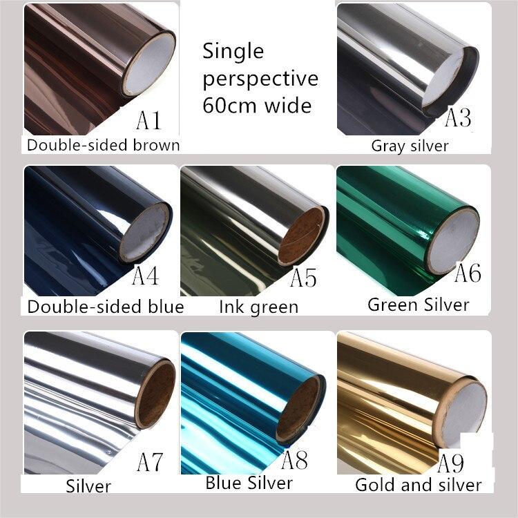 60X100 cm personalizado tinte ventana balcón papel aislamiento térmico película antideslumbrante ida perspectiva prevenir bask en papel