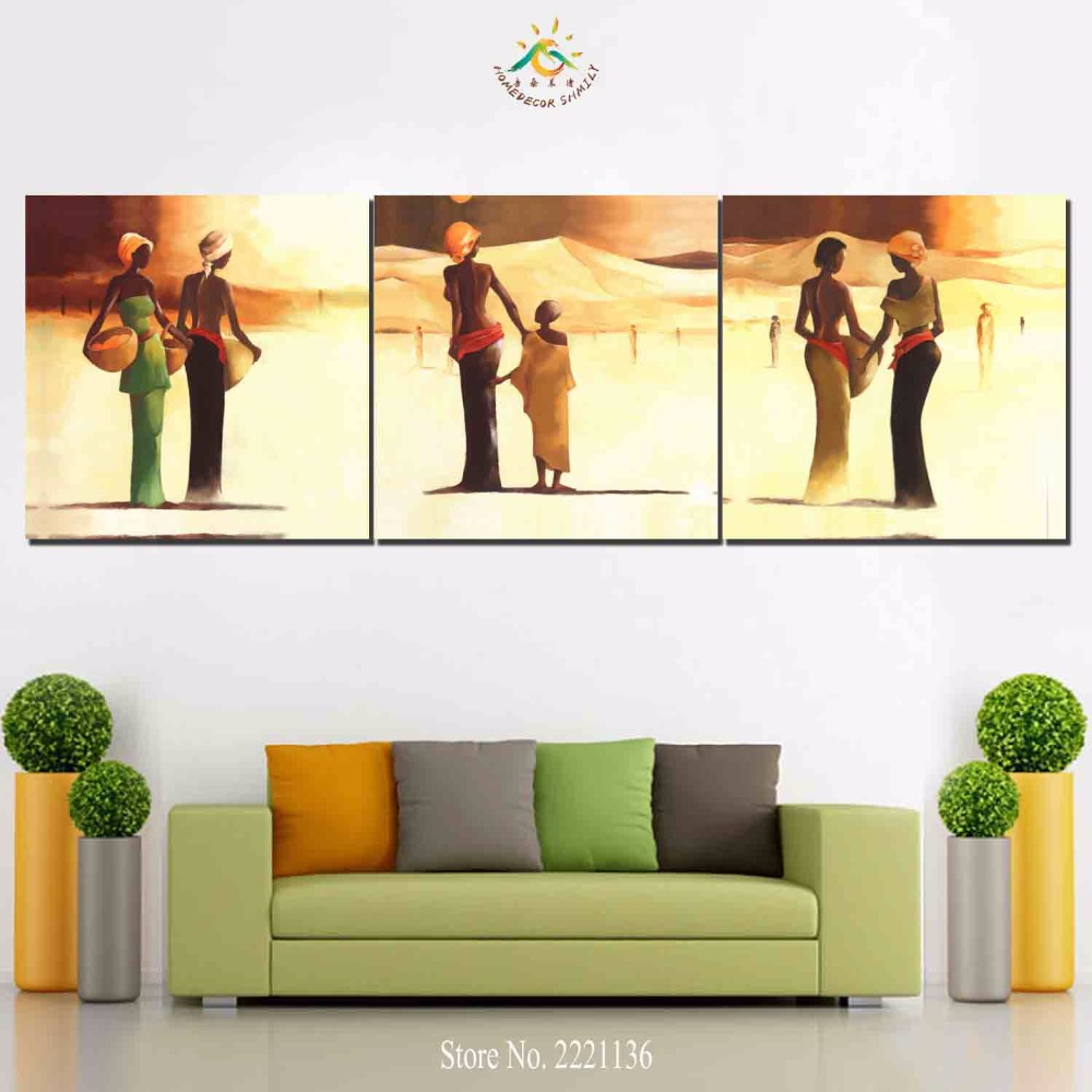 3 Pieces/set Egyptian Woman Print Canvas Painting Room Decor Print ...