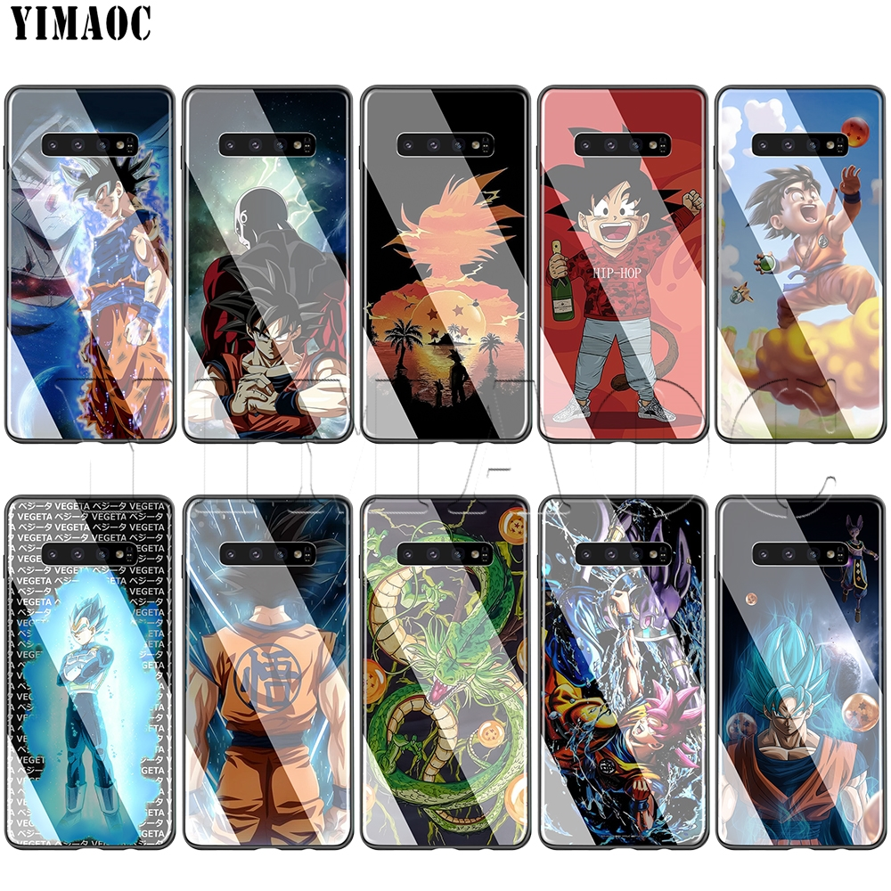 YIMAOC Dragon Ball Son Goku Glass Case for Samsung Galaxy S7 S8 S9 S10 Note 8 9 10 Plus A50 A10 A70 A20 image