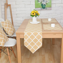 Nodic Style Geometric Print Table Flag Runner Modern Linen Tablecloth Cover For Home Party Wedding Christmas Decoration