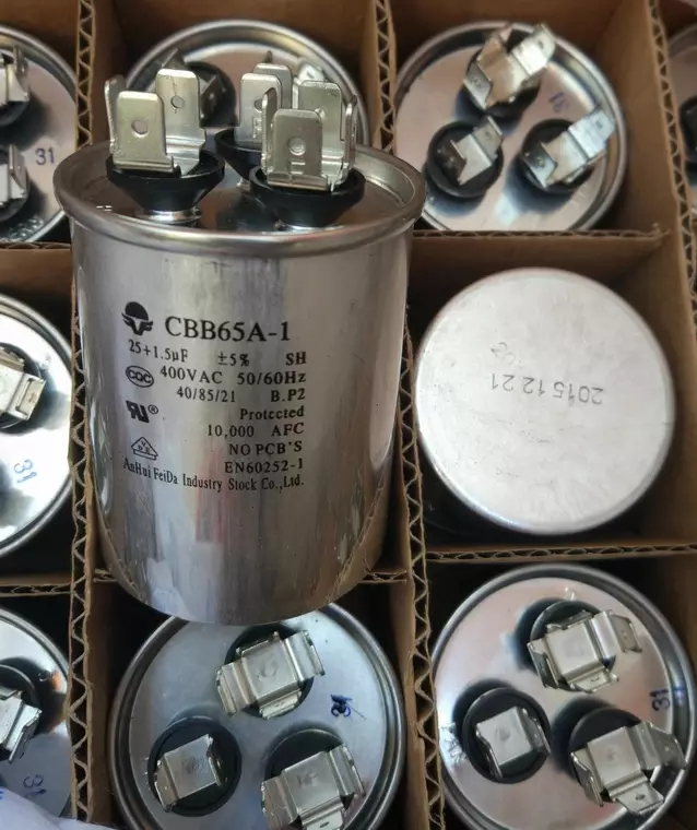 400VAC 1.5uF+25uF Motor Run Start Capacitor the Compressor for Air Conditioner 25+1.5UF CBB65A-1 50/60Hz 50x66mm cbb65a explosion proof air conditioning compressor start capacitor 25uf30uf35uf40uf50uf60uf70uf80 450v